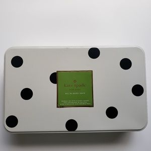 Kate Spade Storage Tin w/ Cookie Cutters. NEW.
